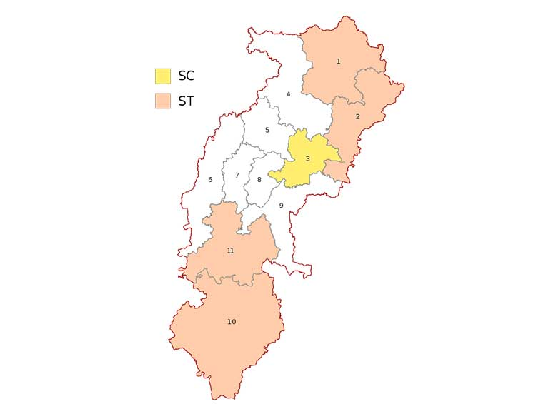 Chhattisgarh parliamentary constituency maps Lok Sabha Election