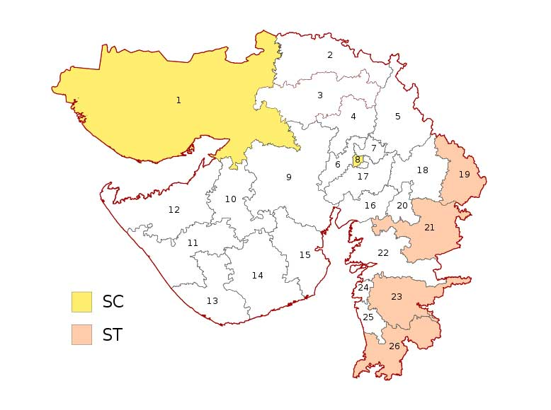 Gujarat parliamentary constituency maps Lok Sabha Election