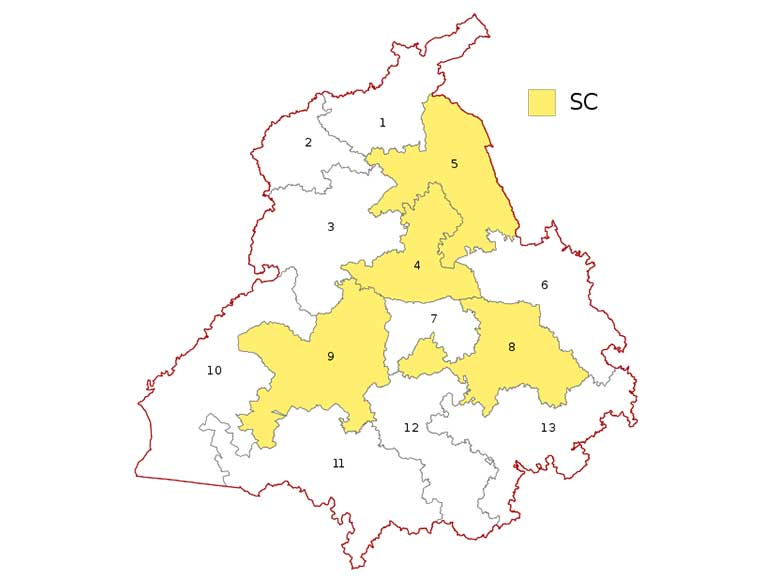 Punjab parliamentary constituency maps Lok Sabha Election